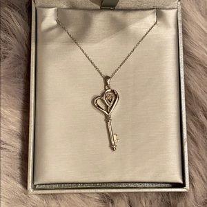 Zales Diamond Key Necklace